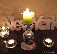 Hoekje kaarsen avond
