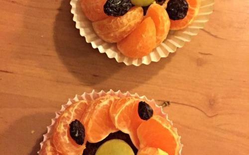 Traktatie_Mandarijnen cupcakes