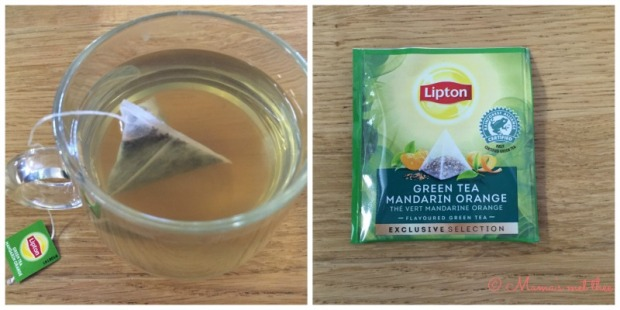 Groene thee met mandarijn