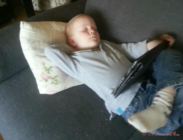 In slaap gevallen bij oma